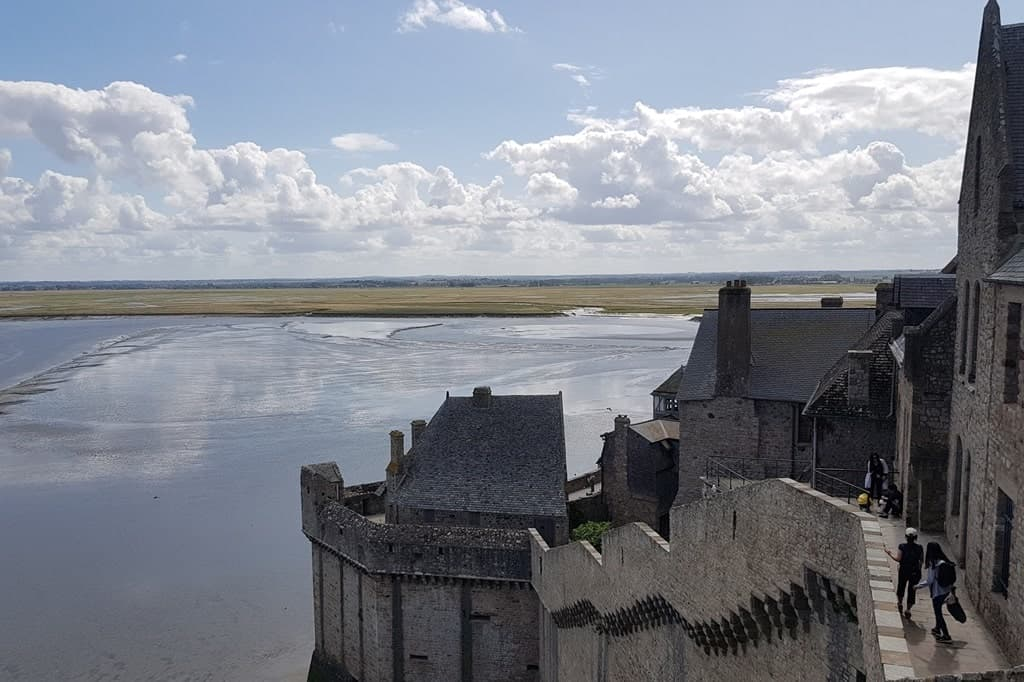 Mont Saint-Michel, the view over the bay