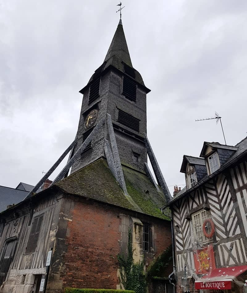 The Church of St. Catherine in Honfleur is the largest wooden church in France, dating back to the 11th century. Although it looks small, inside is very large