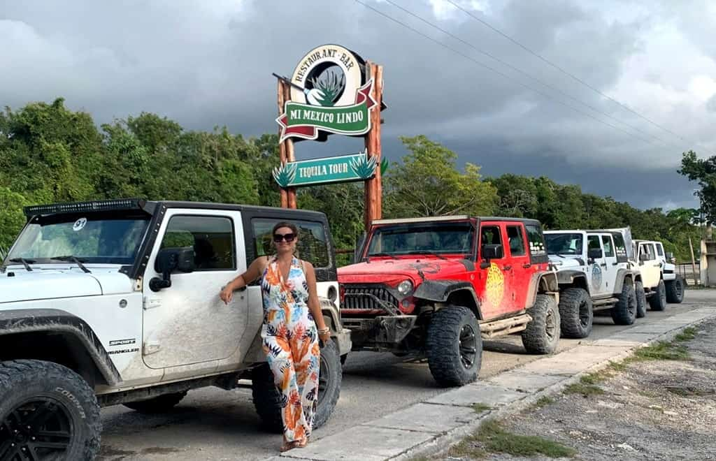 Monster jeep ride in Cozumel
