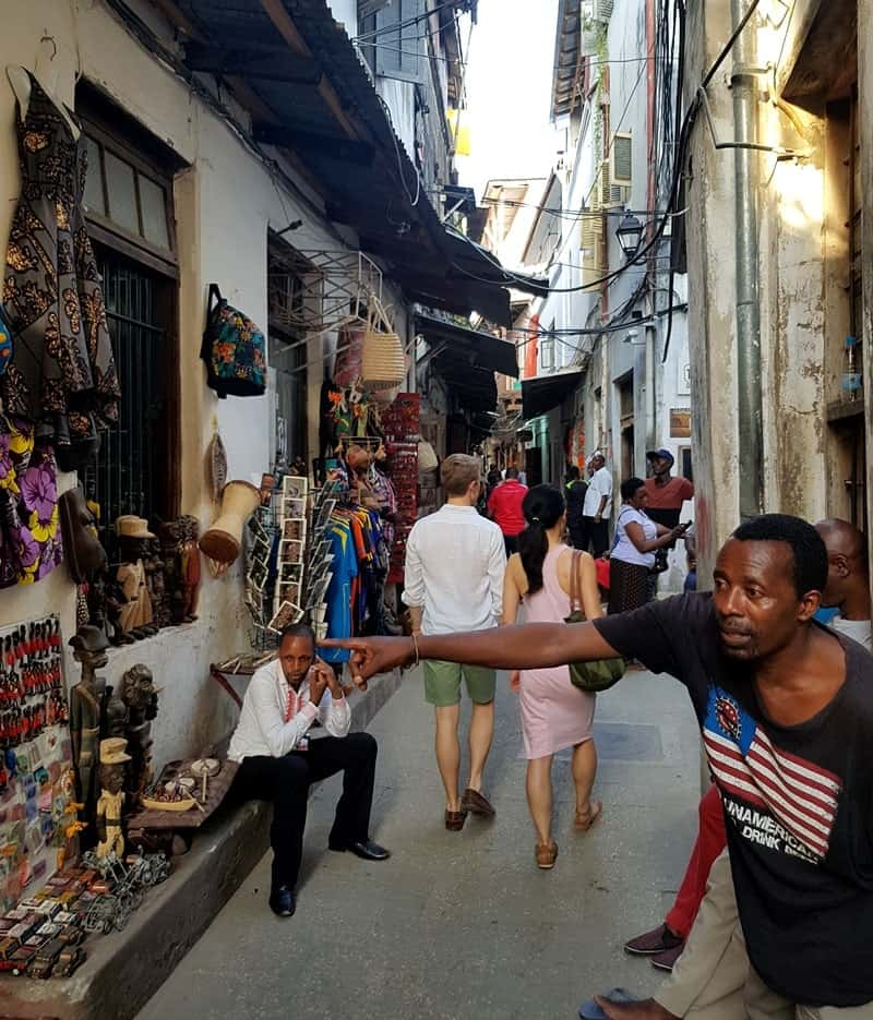 Winding and narrow streets of Stone Town