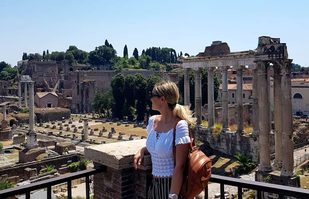 The picture of me overlooking the Roman Forum