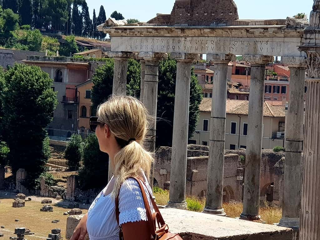 The picture of me overlooking Roman Forum