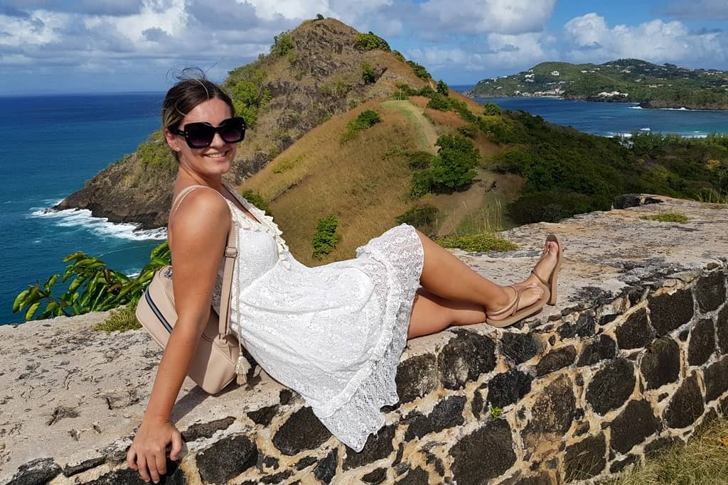 The picture of me on Pigeon Island, St Lucia