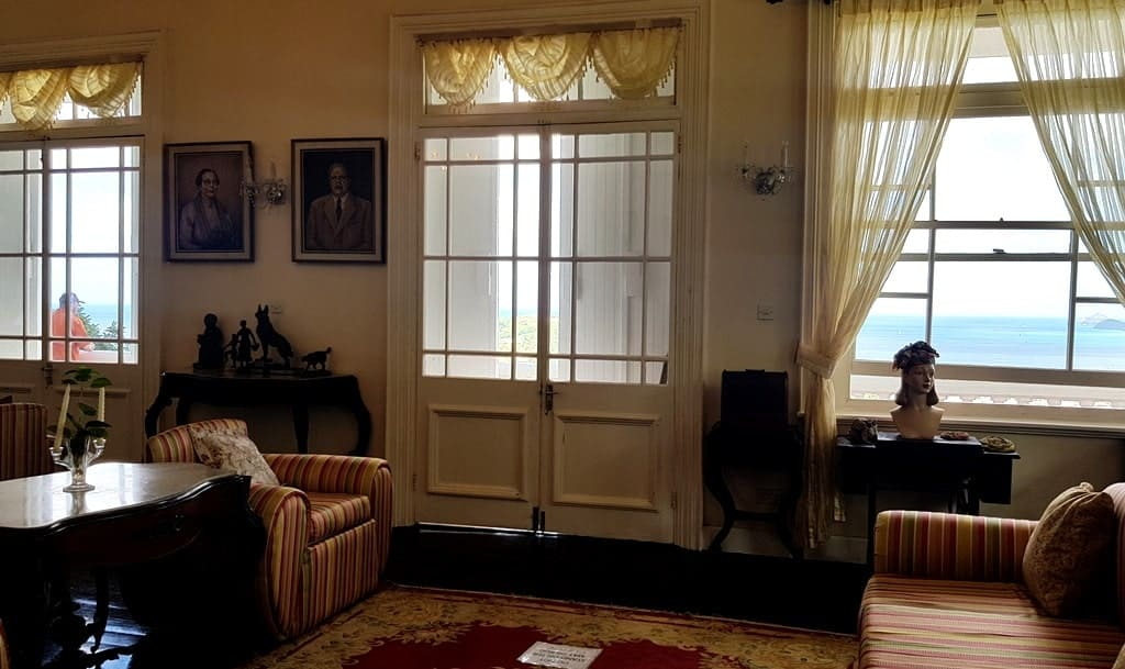 The interior of the St Mark's colonial house in St Lucia