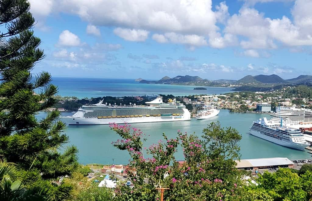 Castries port, St Lucia
