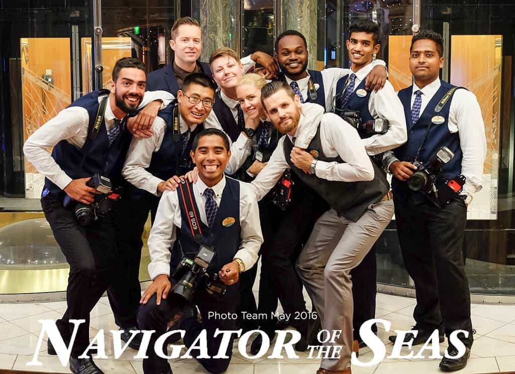 Cruise ship photography jobs - Team photo