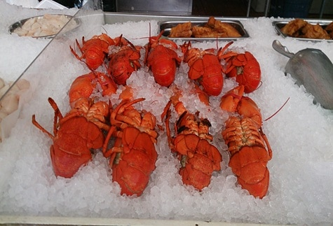 Lobsters at the Halifax market