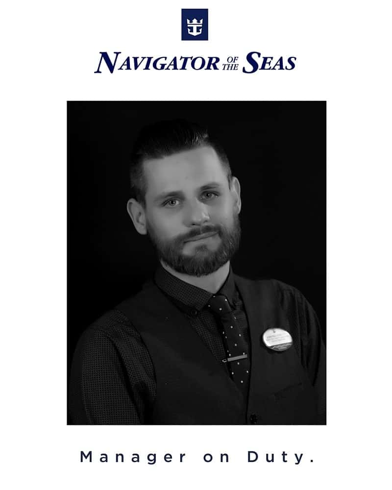 Navigator of the Seas - a photo of an Assistant Manager