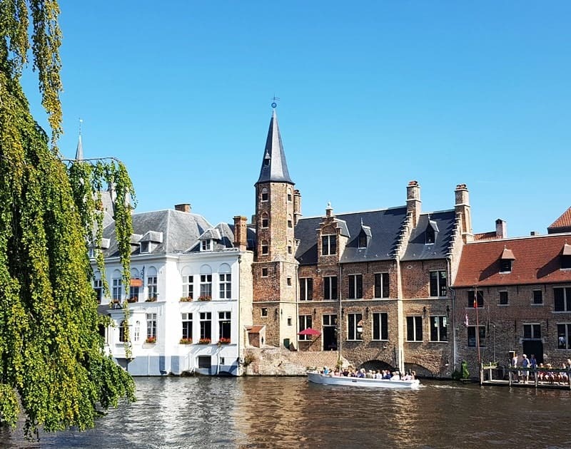 Bruges, Belgium - the view of the canal