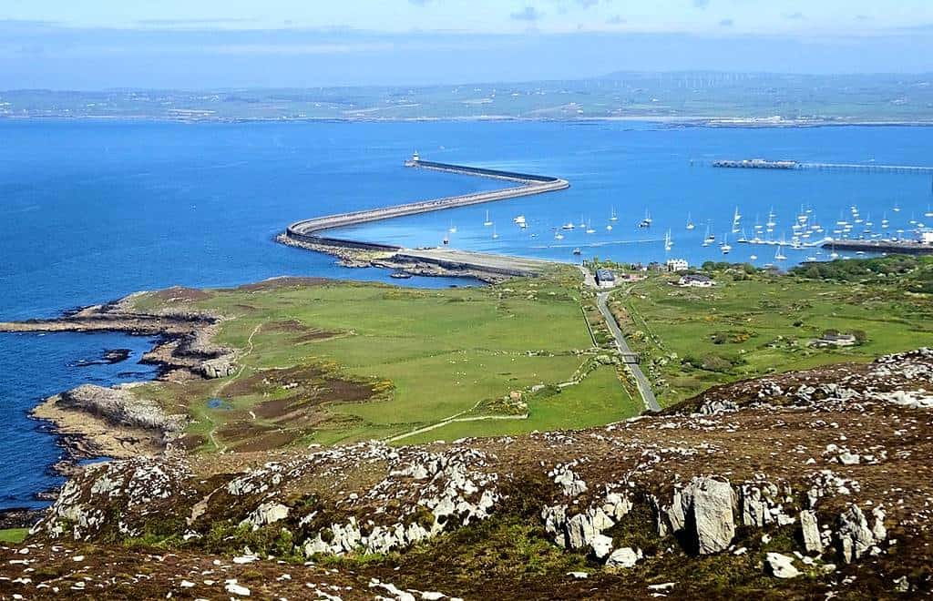 Holyhead cruise port - The view from Holyhead Mountain