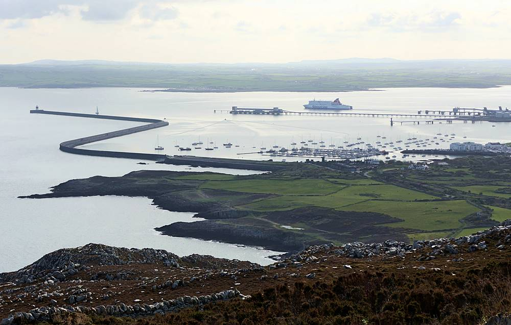 Holyhead port - The view from Holyhead Mountain