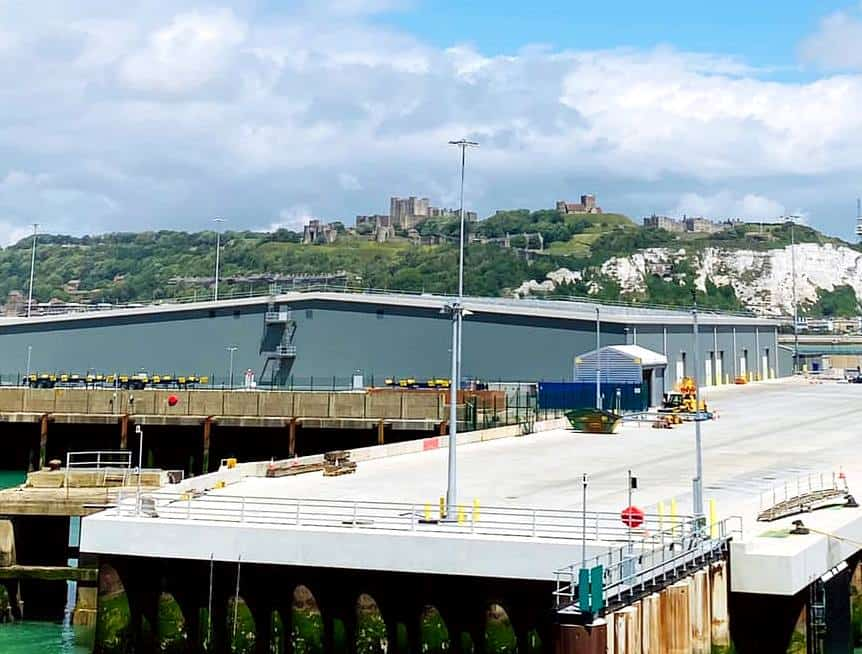 The view of Dover from Dover cruise port
